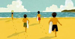 父と行った海辺