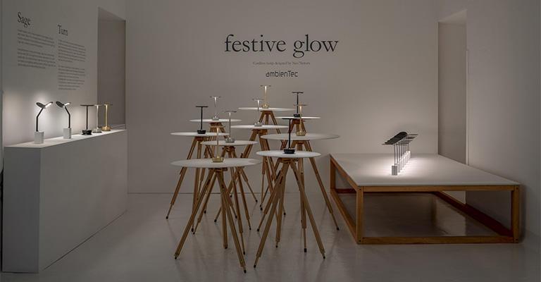 ambientecはミラノで開催されるデザイン展に出展している。写真は2019年4月 Milan Design Week Rossana Orlandi に出展したブース。