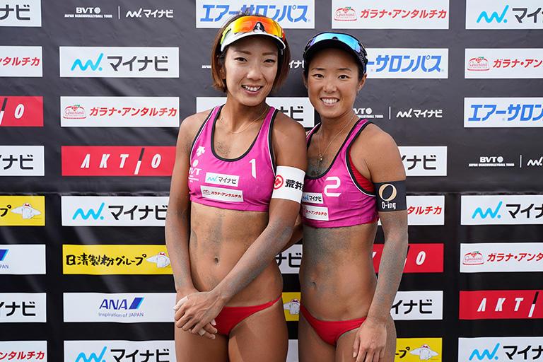 2016年のアジア大会で銅メダルを獲得した(左)石井美樹(右)村上めぐみペア