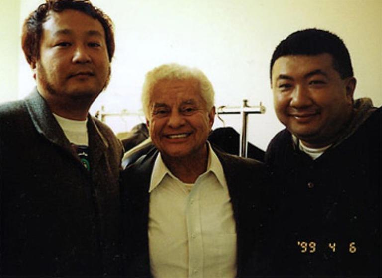 アルセニオ清水氏、ティト・プエンテ氏と筆者  BLUE NOTE TOKYO