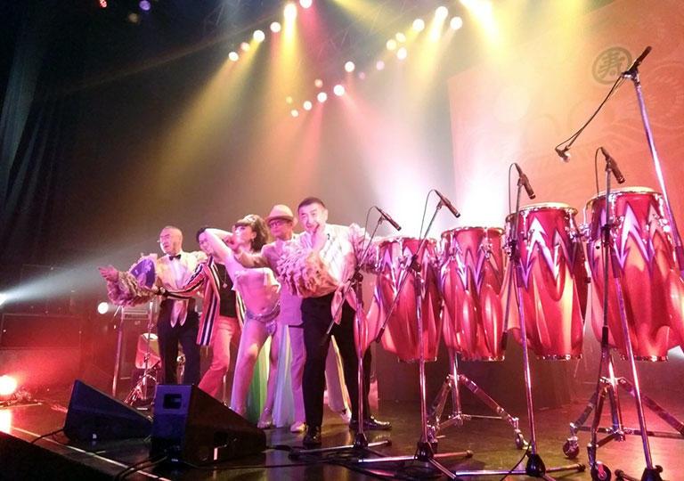 タワーレコード39周年記念サンキューフォーザミュージック出演の東京パノラママンボボーイズ (新木場STUDIO COAST)