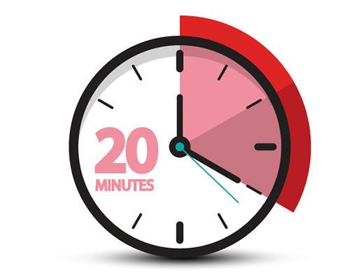 20分かけて食事。ゆっくり噛んで食べる。