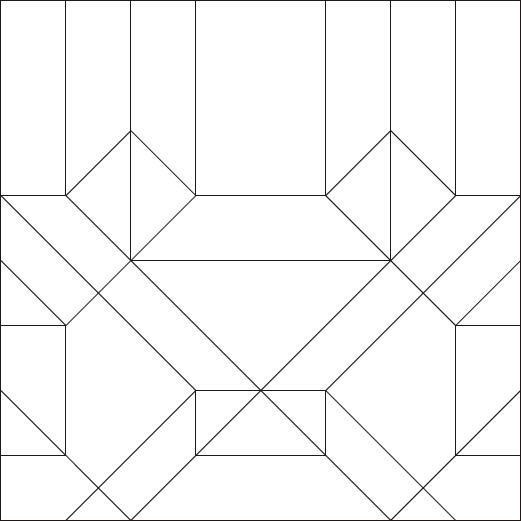クローラー部分の展開図。折り紙のプロはこれを見るだけで完成形を作ることができる