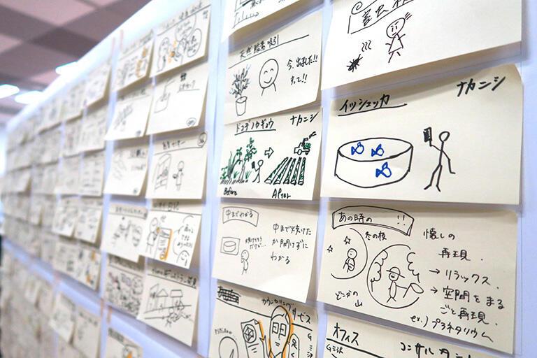Point2: 1枚に1アイデア。描くルールを決めよう!