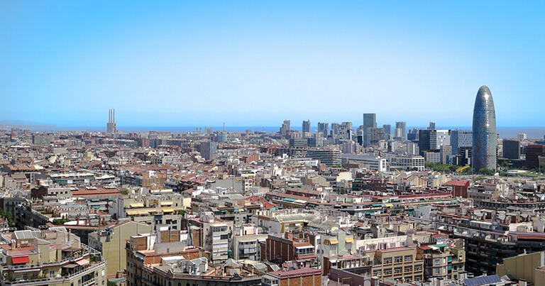 現在のバルセロナ市街