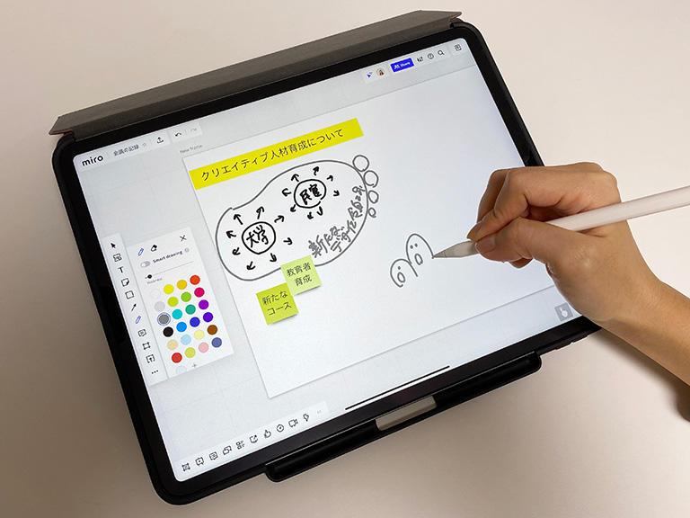 パソコンでもタブレットでも使える「miro」でデジタルグラレコ
