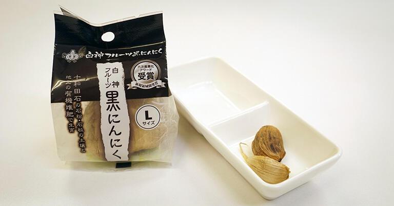 こちらは「白神フルーツ黒にんにく」がしらかみファーマーズのメイン商品