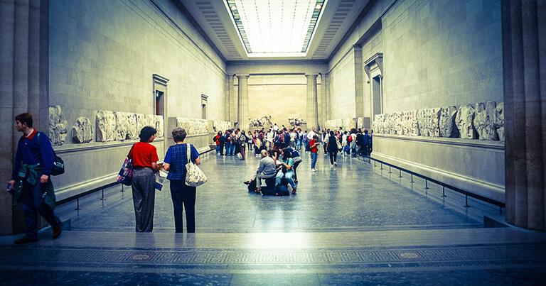 ロンドンの大英博物館にあるパルテノン・ギャラリー。アテネのパルテノン神殿の彫刻を展示している。イサドラもここに来たのだろう