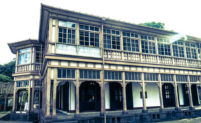 磯地区にある異人館は、鹿児島紡績所で指導していたイギリス人たちの住居だった