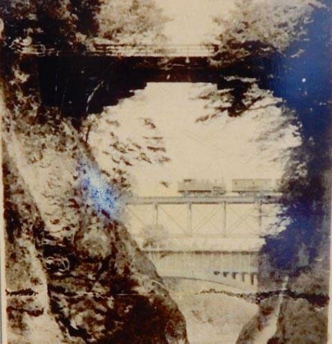 大月市郷土資料館が収蔵する大正時代の猿橋近辺の写真